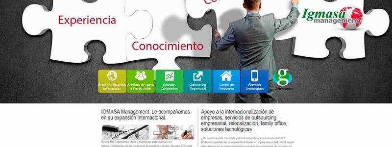 Portada de la web de Igmasa Management